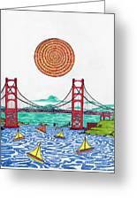 Sailing On San Francisco Bay Greeting Card by Michael Friend