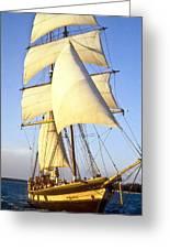 Sailing Ship Carribean Greeting Card by Douglas Barnett
