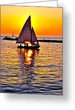 Sailing Silhouette Greeting Card by Frozen in Time Fine Art Photography