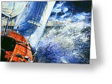Sailing Souls Greeting Card by Hanne Lore Koehler