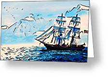 Sailing South 3 Greeting Card by MotionAge Designs