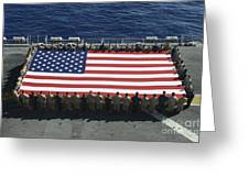 Sailors And Marines Display Greeting Card by Stocktrek Images