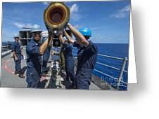 Sailors Load Rim-7 Sea Sparrow Missiles Greeting Card by Stocktrek Images