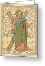 Saint Andrew Greeting Card by English School