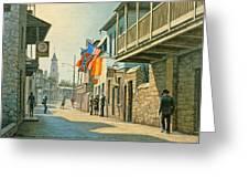 Saint Augustine Street   Greeting Card by Paul Krapf
