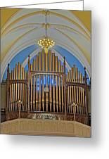 Saint Bridgets Pipe Organ Greeting Card by Susan Candelario