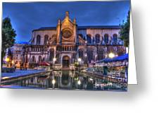Saint Catherine Church. Brussels Greeting Card by Juli Scalzi