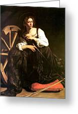 Saint Catherine Of Alexandria Greeting Card by Caravaggio