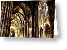 Saint Denis Cathedral Greeting Card by Olivier Le Queinec