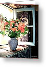Saint Emilion Window Greeting Card by Joan  Minchak