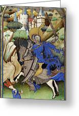 Saint George And The Dragon Greeting Card by Getty Research Institute