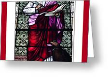 Saint John the Evangelist Stained Glass Window Greeting Card by Rose Santuci-Sofranko