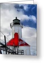 Saint Joseph Michigan Lighthouse Greeting Card by Dan Sproul