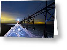 Saint Joseph Pier In Evening Greeting Card by Twenty Two North Photography