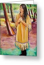 Saint Kateri Tekakwitha Version One Greeting Card by Sheila Diemert