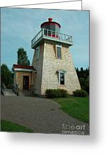 Saint Martin's Lighthouse Greeting Card by Kathleen Struckle