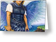 Saint Michael the Archangel Greeting Card by Patty Kay Hall