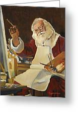 Saint Nick Painting Greeting Card by Kathy Bryant-Williams