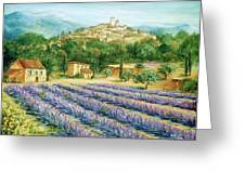 Saint Paul de Vence and Lavender Greeting Card by Marilyn Dunlap