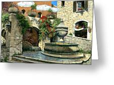 Saint Paul De Vence Fountain Greeting Card by Michael Swanson
