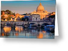 Saint Peters Basilica Greeting Card by Inge Johnsson