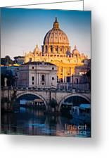 Saint Peter's Dawn Greeting Card by Inge Johnsson