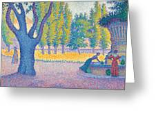 Saint-tropez Fontaine Des Lices Greeting Card by Paul Signac