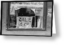 Sale Is On Greeting Card by Bill Cannon