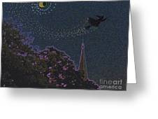 Salem Witch Moon 2 By Jrr Greeting Card by First Star Art