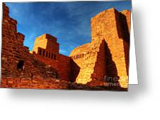 Salinas Pueblo Abo Mission Golden Light Greeting Card by Bob Christopher