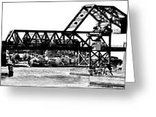 Salmon Bay Bridge Greeting Card by Benjamin Yeager