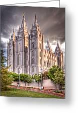 Salt Lake Temple Greeting Card by Niels Nielsen