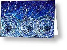Salt Of The Soul - Drip Painting Art By Commission Greeting Card by Sharon Cummings