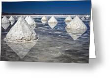 Salt Pyramids Greeting Card by Kim Andelkovic