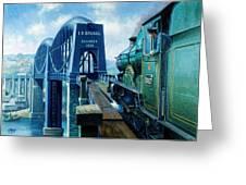 Saltash Bridge. Greeting Card by Mike  Jeffries