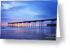 Saltburn Pier At Dawn Greeting Card by Colin and Linda McKie