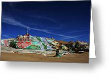 Salvation Mountain Greeting Card by Laurie Search