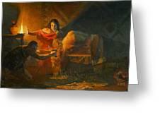 Samson And Dalida Greeting Card by Victoria Kharchenko