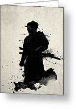 Samurai Greeting Card by Nicklas Gustafsson