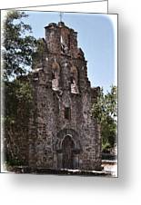 San Antonio Mission Greeting Card by Kathy Williams-Walkup