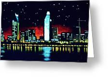 San Diego By Black Light Greeting Card by Thomas Kolendra