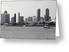 San Diego Skyline 5d24380 Greeting Card by Wingsdomain Art and Photography