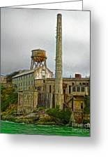San Francisco - Alcatraz - 03 Greeting Card by Gregory Dyer