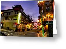 San Francisco - Chinatown 010 Greeting Card by Lance Vaughn