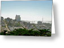 San Francisco - Cityscape - 04 Greeting Card by Gregory Dyer