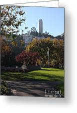 San Francisco Coit Tower At Levis Plaza 5d26217 Greeting Card by Wingsdomain Art and Photography
