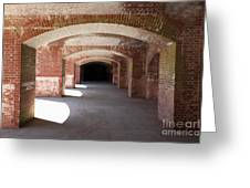 San Francisco Fort Point 5d21546 Greeting Card by Wingsdomain Art and Photography