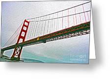 San Francisco - Golden Gate Bridge - 01 Greeting Card by Gregory Dyer