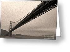 San Francisco - Golden Gate Bridge - 05 Greeting Card by Gregory Dyer