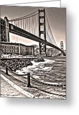 San Francisco - Golden Gate Bridge - 10 Greeting Card by Gregory Dyer